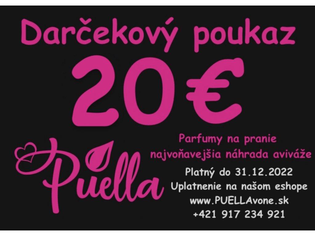 20€ Darčekový poukaz